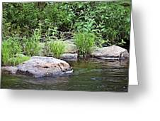 River At Duchesne Falls Greeting Card