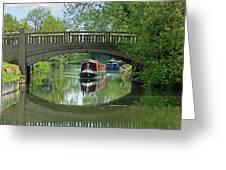 River At Harlow Mill Greeting Card