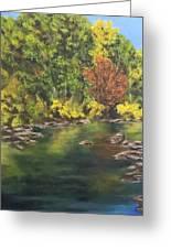River At Hidden Acres 1. Greeting Card