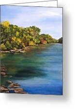 River At Hidden Acres 2. Greeting Card
