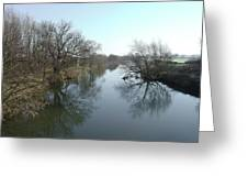 River At Marston On Dove Greeting Card