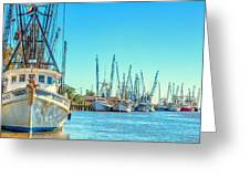 Darien Shrimp Boats Greeting Card