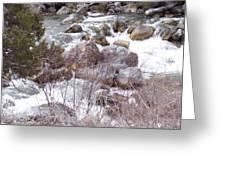 River Boulders Greeting Card
