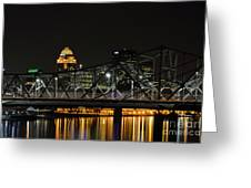 Ohio River Bridges And Louisville Skyline Greeting Card