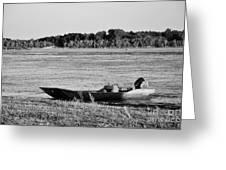 River Canoe Greeting Card