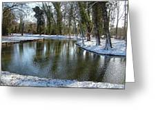 River Cherwell Meandering Through Christ Church Meadows Oxford Uk. Greeting Card by Mike Lester