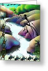 River Dance Greeting Card