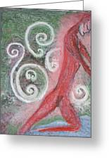 River Figure Greeting Card