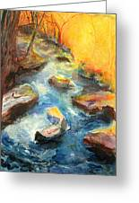 River Fire Greeting Card