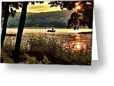 River Fishing  Greeting Card