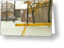 River Flowing Down The Street Hackensack Nj Greeting Card