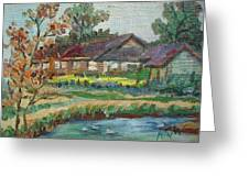 River Home  Minature Greeting Card