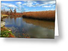 River Hudson Autumn Creek Greeting Card