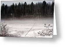 River Ice And Steam Greeting Card