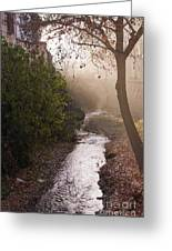 River In Afternoon Sunhaze  Greeting Card