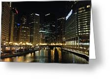River In Chicago Greeting Card