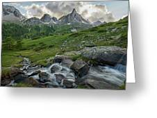 River In The French Alps Greeting Card