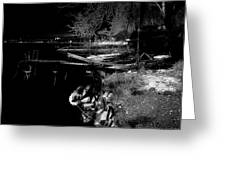 River In The Night... Greeting Card