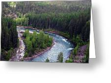 River In Valley G Greeting Card