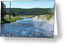 River In Yellowstone Greeting Card