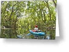 River Kayak Greeting Card