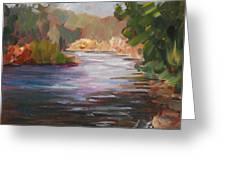 River Light Greeting Card