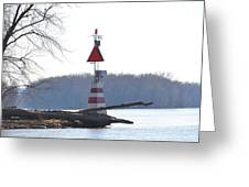 River Marker Greeting Card