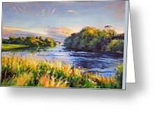 River Moy At Ballina Greeting Card