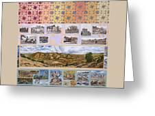 River Mural Autumn Panel Top Half Greeting Card