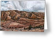 River Mural Autumn Panorama Greeting Card