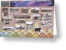 River Mural Summer Panel Bottom Half Greeting Card
