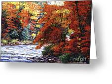 River Of Colors Greeting Card by David Lloyd Glover