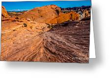 River Of Erosion Greeting Card