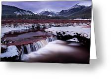River Of Glass Greeting Card