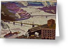River Of Industry Greeting Card