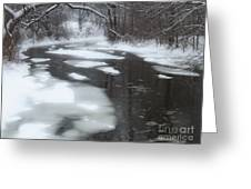 River Of Melting Ice Greeting Card