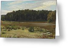 River On The Edge Of A Wood Greeting Card