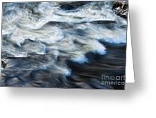River Over Rocks Greeting Card