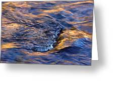 River Rapids At Sunset Greeting Card