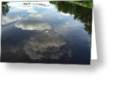 River Reflection Of Clouds Greeting Card