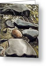 River Rock Formations Greeting Card