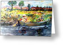 River Romance Greeting Card