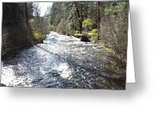 River Runs Through It Greeting Card