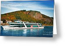 River Ship Greeting Card