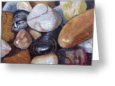 River Stones Greeting Card