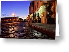 River Street At Dusk Greeting Card