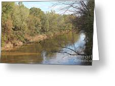 River Sun Greeting Card