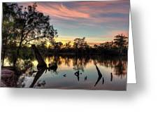 River Sunrise Greeting Card