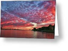 River Sunset Greeting Card