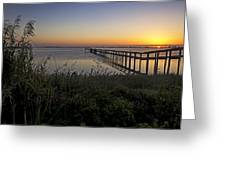 River Sunsrise - Florida Sunrise Scenic Greeting Card